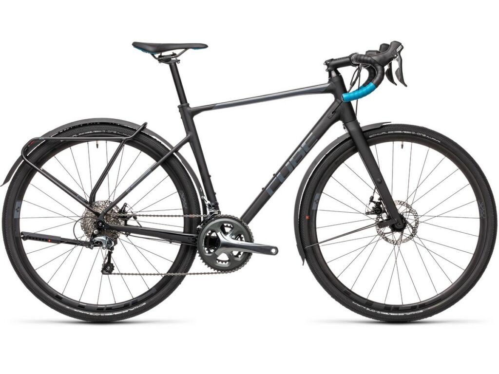 Cube Nuroad Pro FE 2021 gravel kerékpár, black'n'petrol