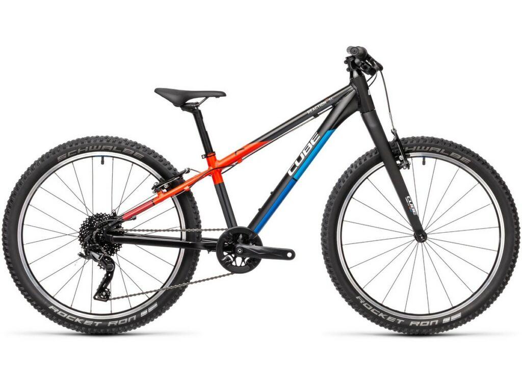 """Cube Reaction 240 SL 2021 24"""" gyermek merev vázas MTB kerékpár, black'n'blue'n'red"""