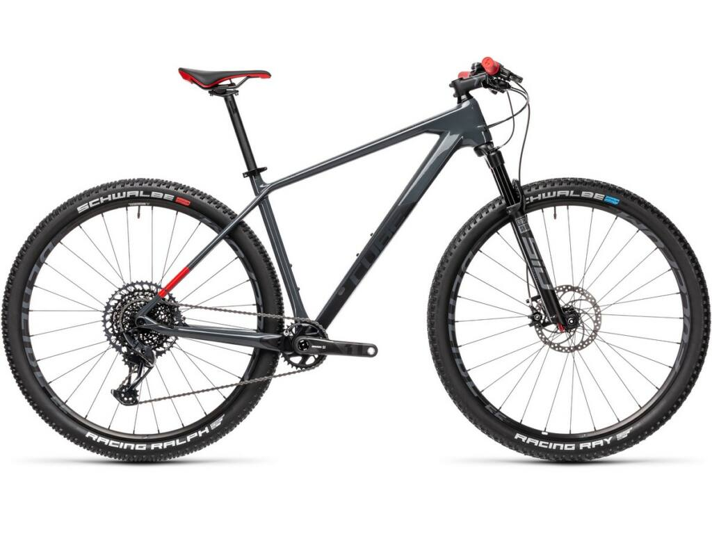 """Cube Reaction C:62 SL 2021 29"""" MTB hardtail kerékpár, grey'n'red"""
