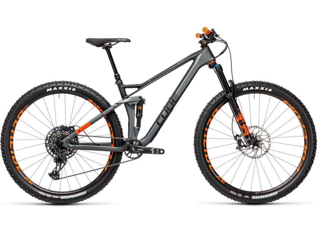 """Cube Stereo 120 HPC TM 29 2021 29"""" MTB fully kerékpár, flashgrey'n'orange"""