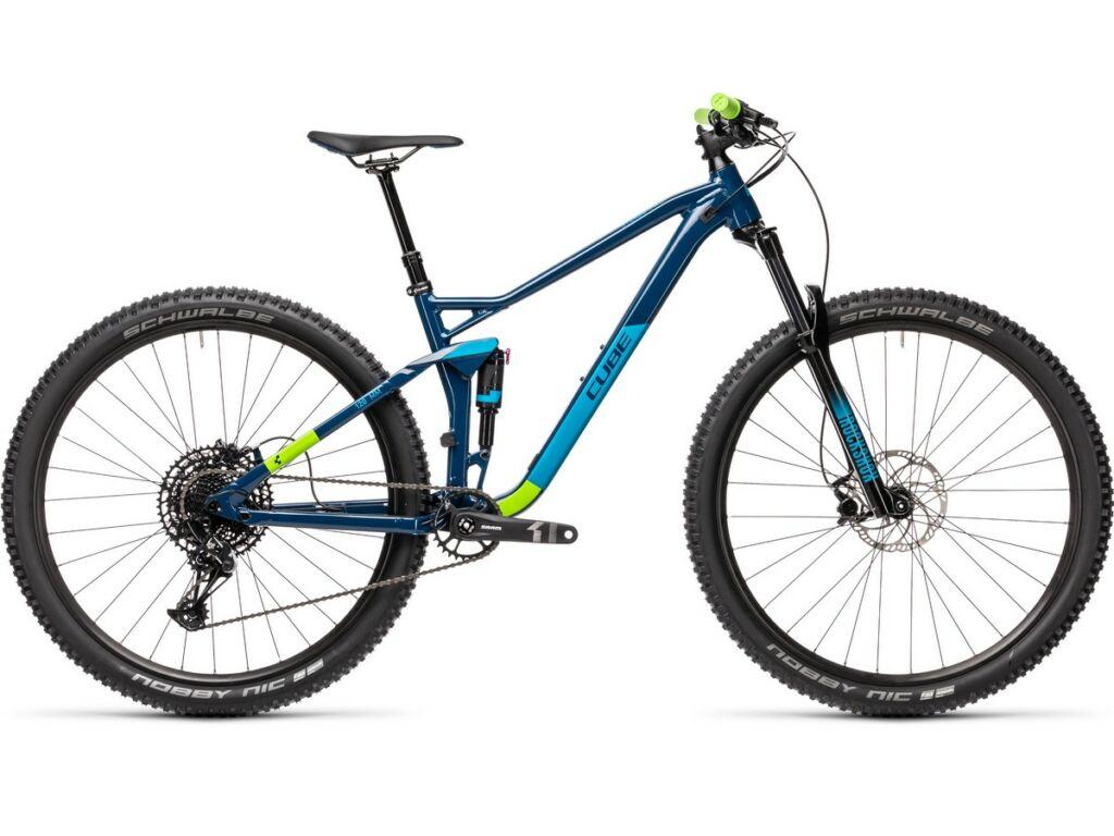 "Cube Stereo 120 Pro 29 2021 29"" MTB fully kerékpár, blueberry'n'green"