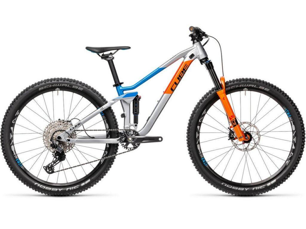 """Cube Stereo 120 Rookie 2021 27.5"""" gyermek MTB kerékpár, actionteam"""