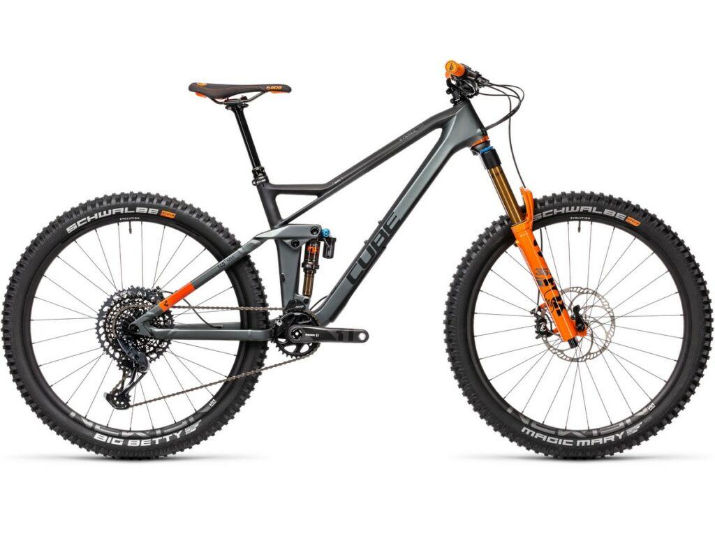 """Cube Stereo 140 HPC TM 27.5 2021 27.5"""" MTB fully kerékpár, flashgrey'n'orange"""