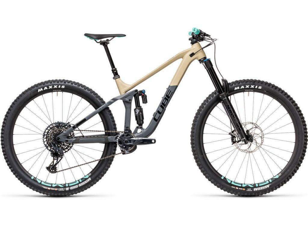 "Cube Stereo 170 Race 29 2021 29"" MTB fully kerékpár, desert'n'grey"