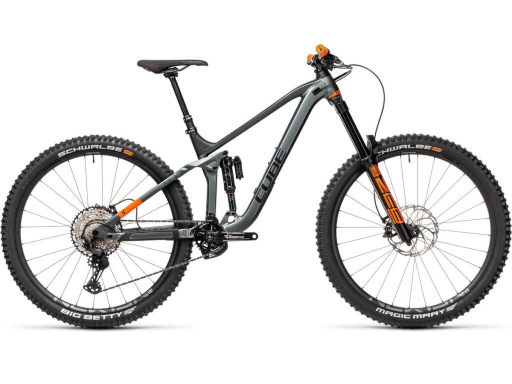 "Cube Stereo 170 TM 29 2021 29"" MTB fully kerékpár, flashgrey'n'orange"