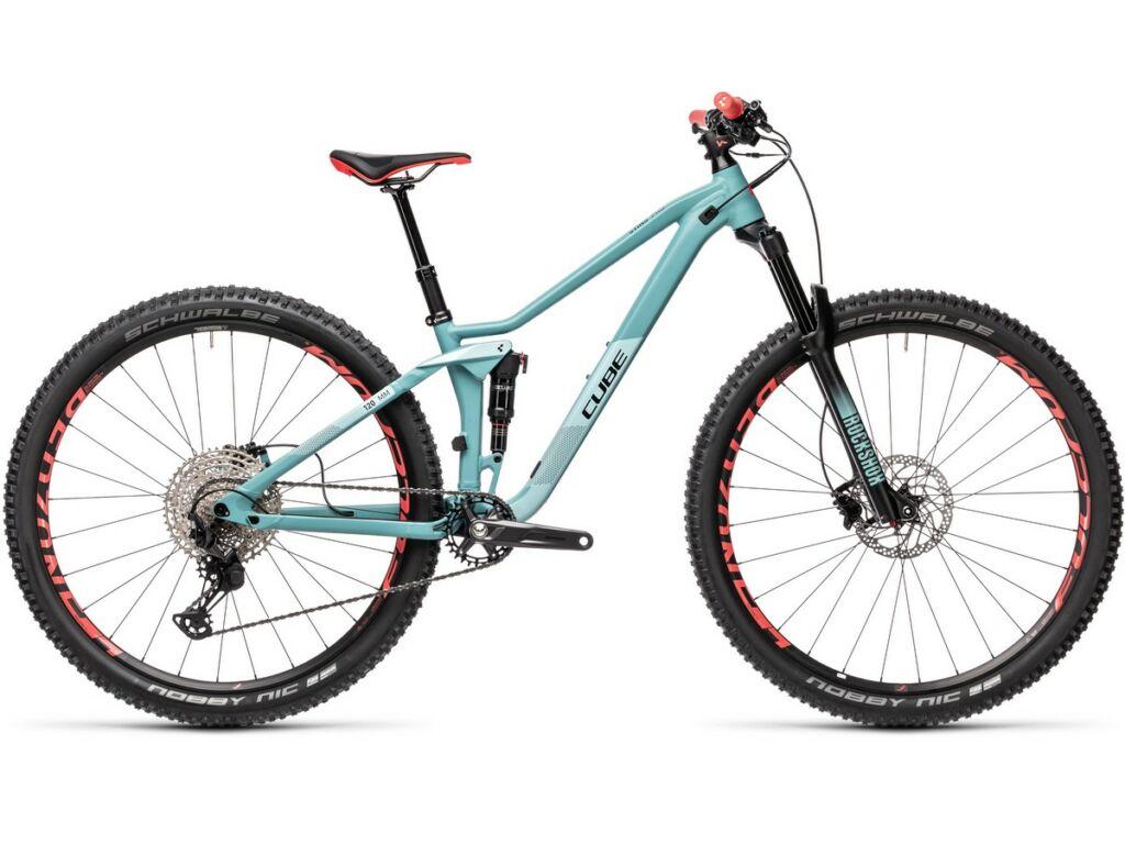 "Cube Sting WS 120 Pro 2021 27.5"" női MTB fully kerékpár, oldmint'n'blue"