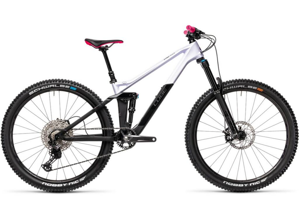 "Cube Sting WS 140 HPC Race 2021 27.5"" női MTB fully kerékpár, violetwhite'n'carbon"