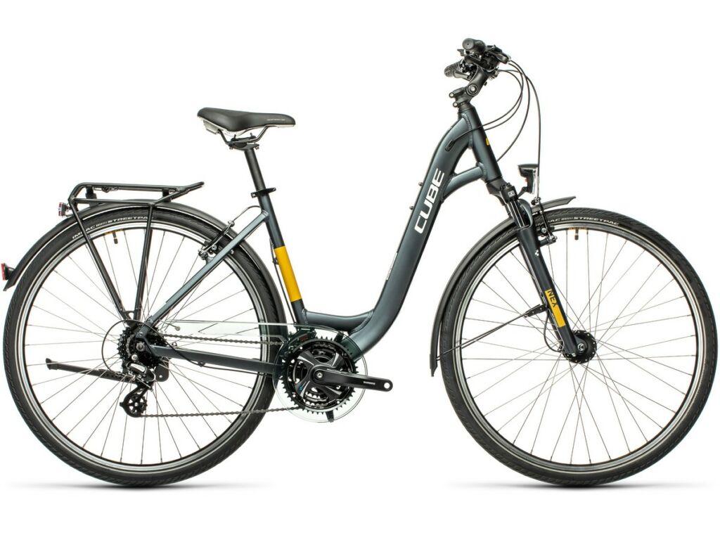 Cube Touring 2021 Easy Entry túra kerékpár, grey'n'yellow