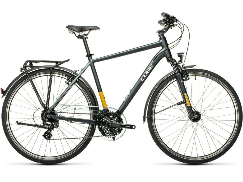 Cube Touring 2021 Men férfi túra kerékpár, grey'n'yellow