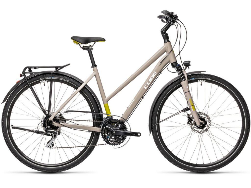 Cube Touring Pro 2021 Trapeze női túra / trekking kerékpár, grey'n'green