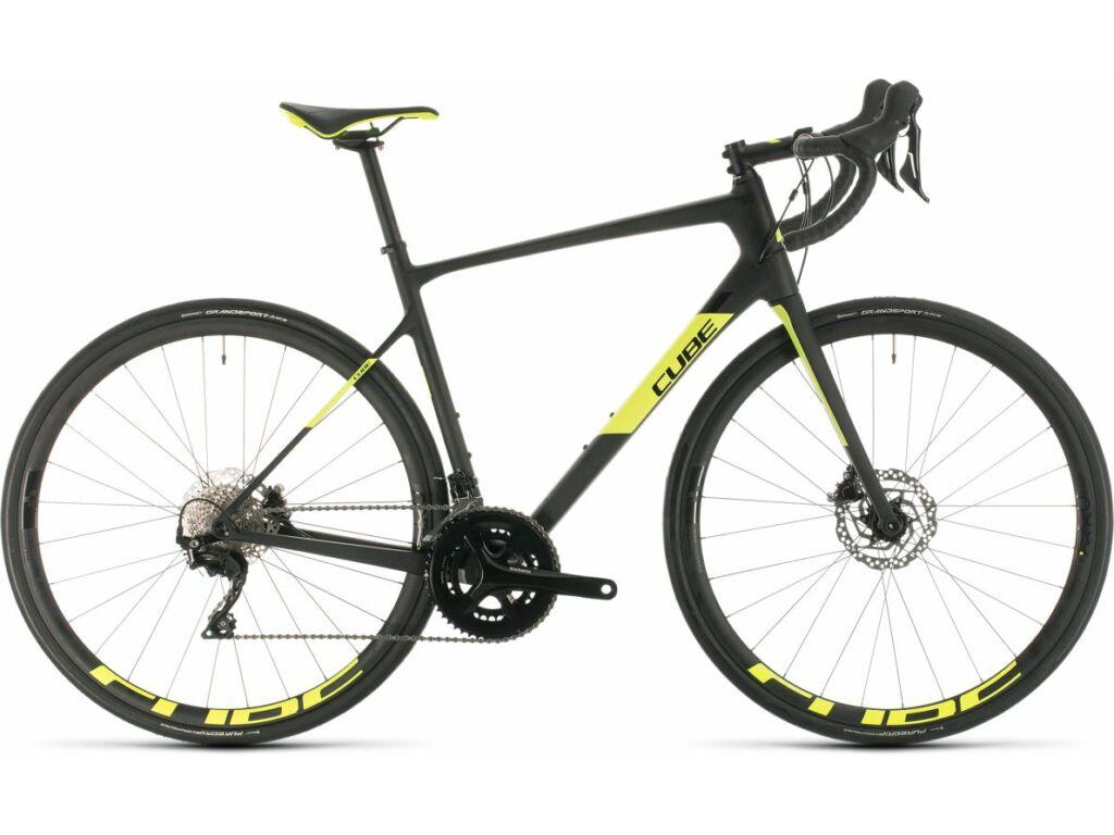 Cube Attain GTC Race 2020 országúti kerékpár, carbon'n'flashyellow, 56