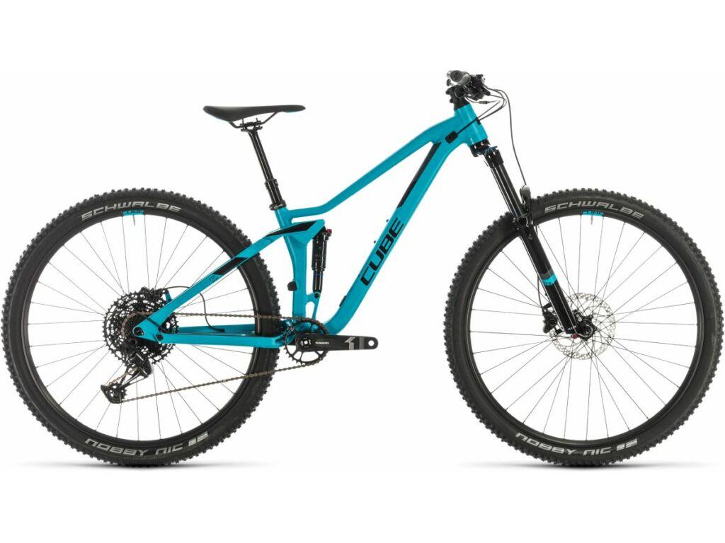 "Cube Sting WS 120 EXC 2020 27.5"" női MTB fully kerékpár, turquoise'n'black, 13.5"""
