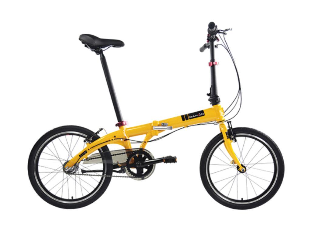Dahon Vybe i3 folding / összecsukható városi kerékpár, napsárga