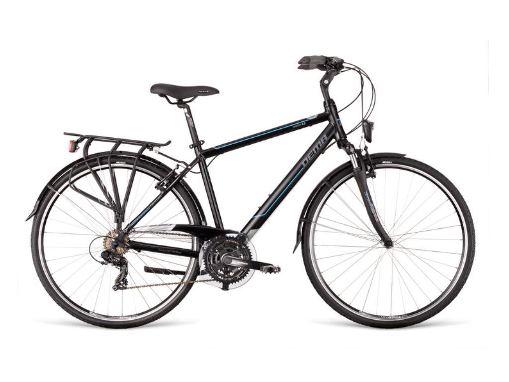 Dema AROSA 1.0 férfi túra kerékpár, fekete / kék