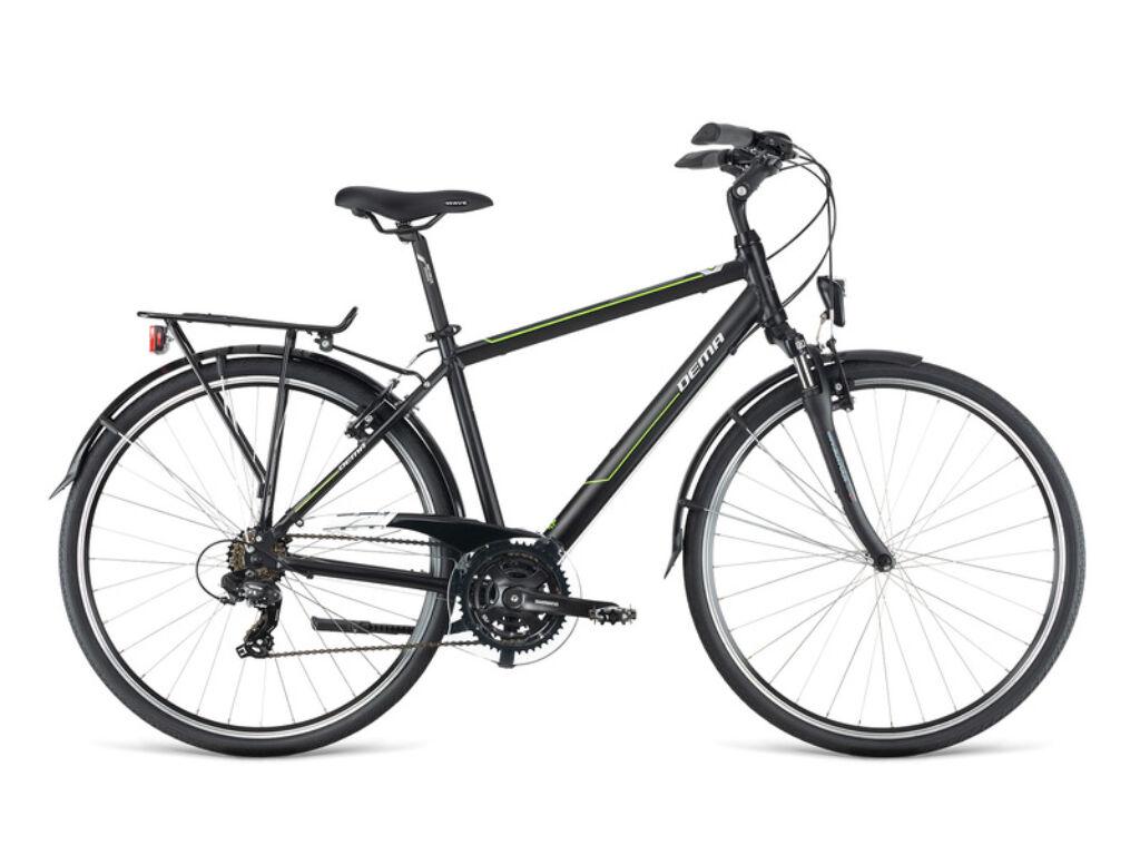 Dema AROSA 1.0 női túra kerékpár, fekete / zöld