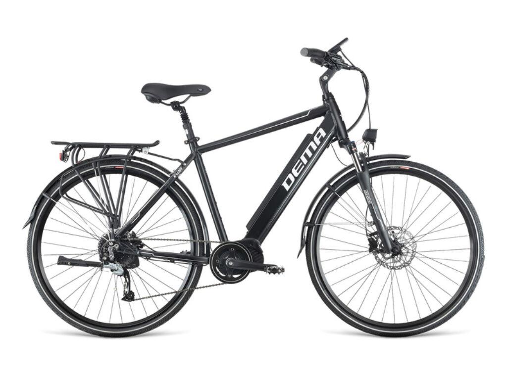 Dema E-LLIOT TOUR MODEST 500 férfi túra elektromos kerékpár, fekete / fehér