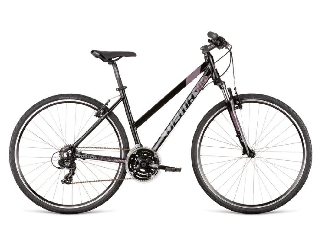 Dema LOARA 1 női cross kerékpár, fekete / pink