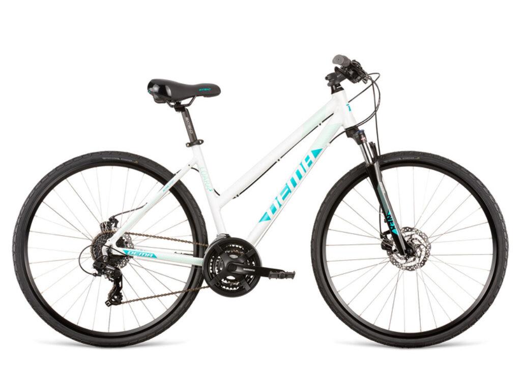 Dema LOARA 3 női cross kerékpár, fehér / türkiz