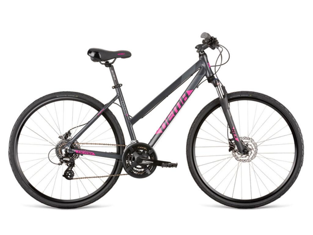 Dema LOARA 5.0 női cross kerékpár, szürke / pink