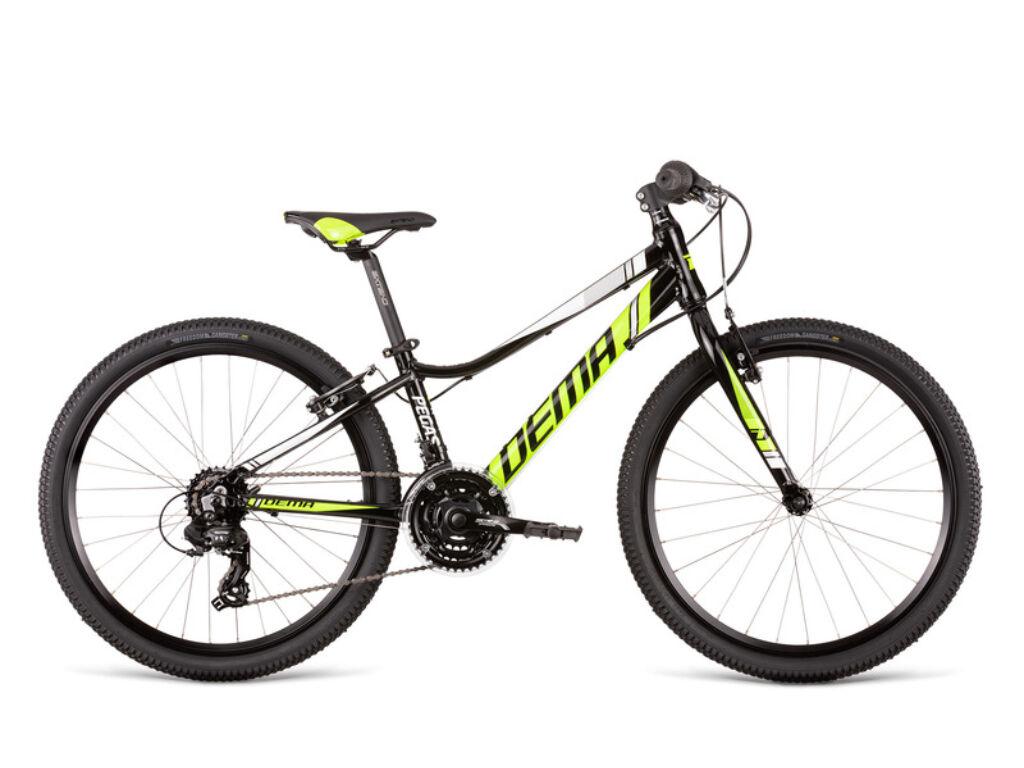 Dema PEGAS 24 gyermekkerékpár, fekete / neonsárga