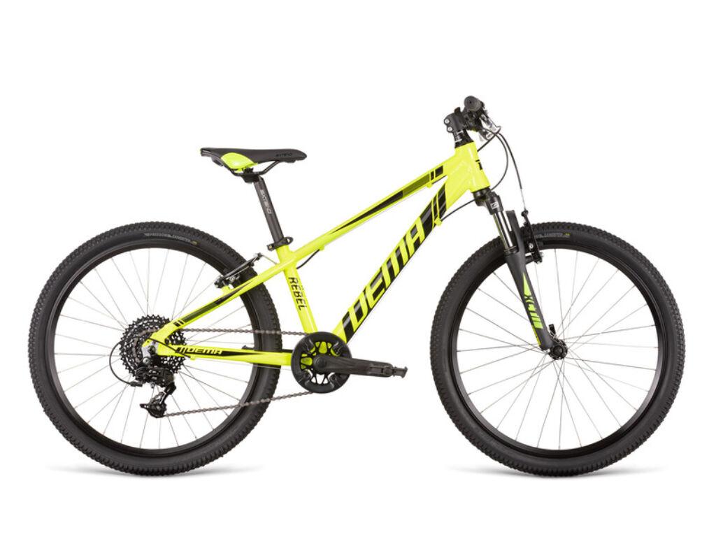 Dema REBEL 24 gyermekkerékpár, neonsárga / fekete