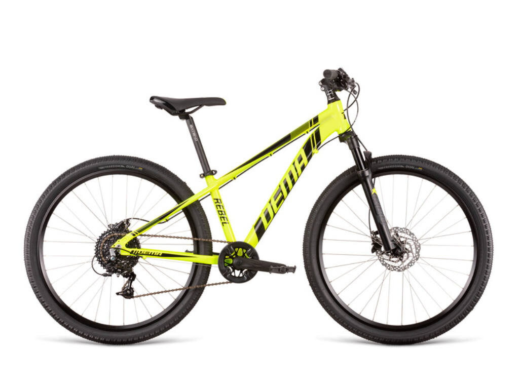 Dema REBEL 26 gyermekkerékpár, neonsárga / fekete