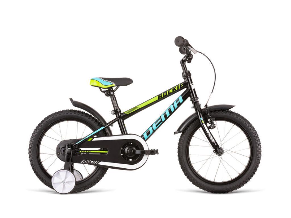 Dema ROCKIE 16 gyermekkerékpár, fekete / kék