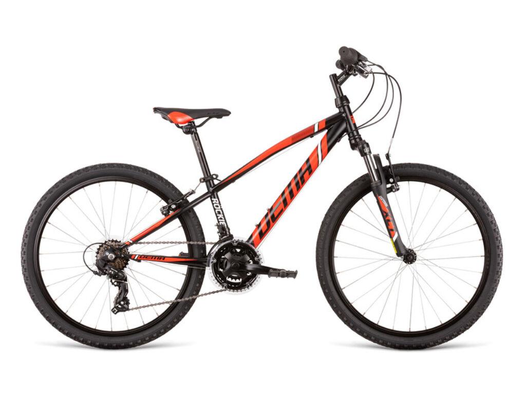 Dema ROCKIE 24 SF gyermekkerékpár, fekete / piros