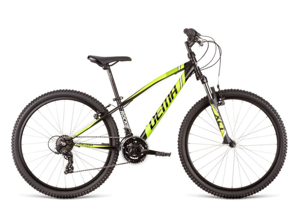 Dema ROCKIE 26 gyermekkerékpár, fekete / neonsárga