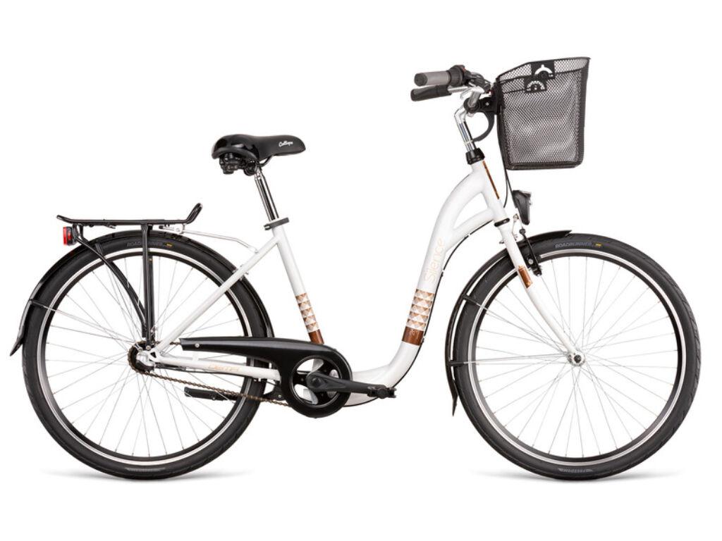 Dema SILENCE 3sp városi kerékpár, fehér / barna