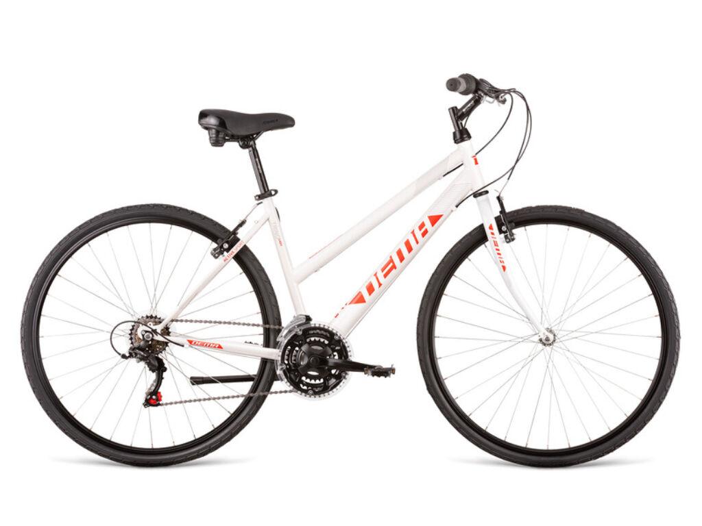 Dema TRINO LADY női cross kerékpár, fehér / piros