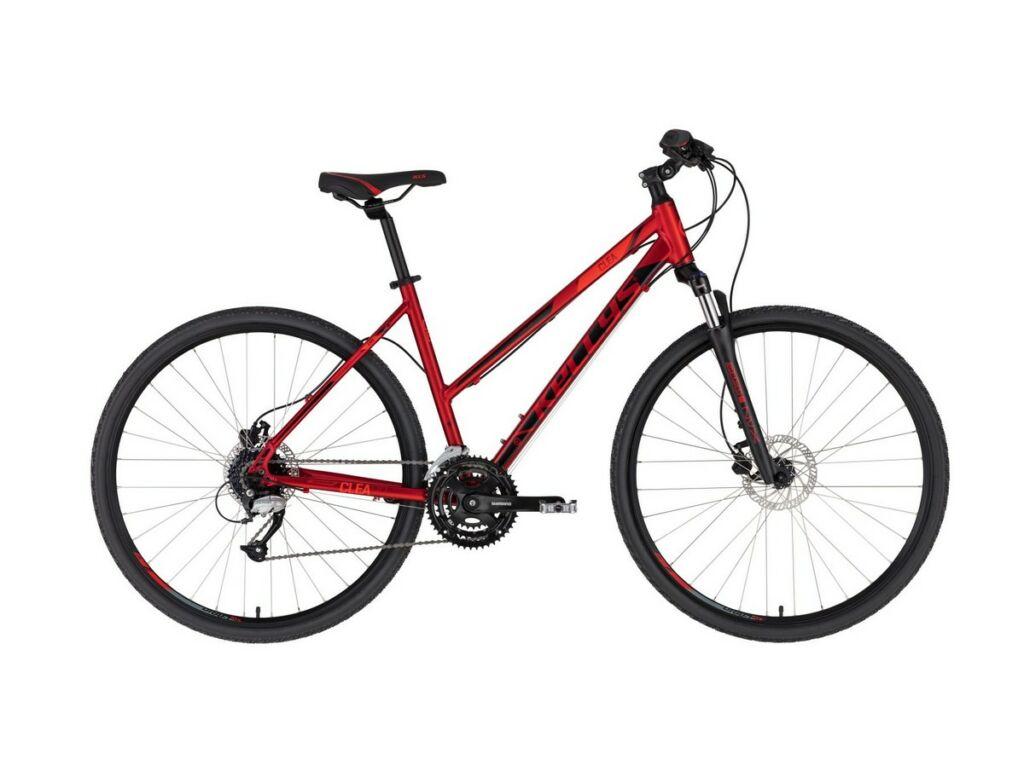 """KELLYS Clea 90 28"""" női cross kerékpár, Dark Red"""