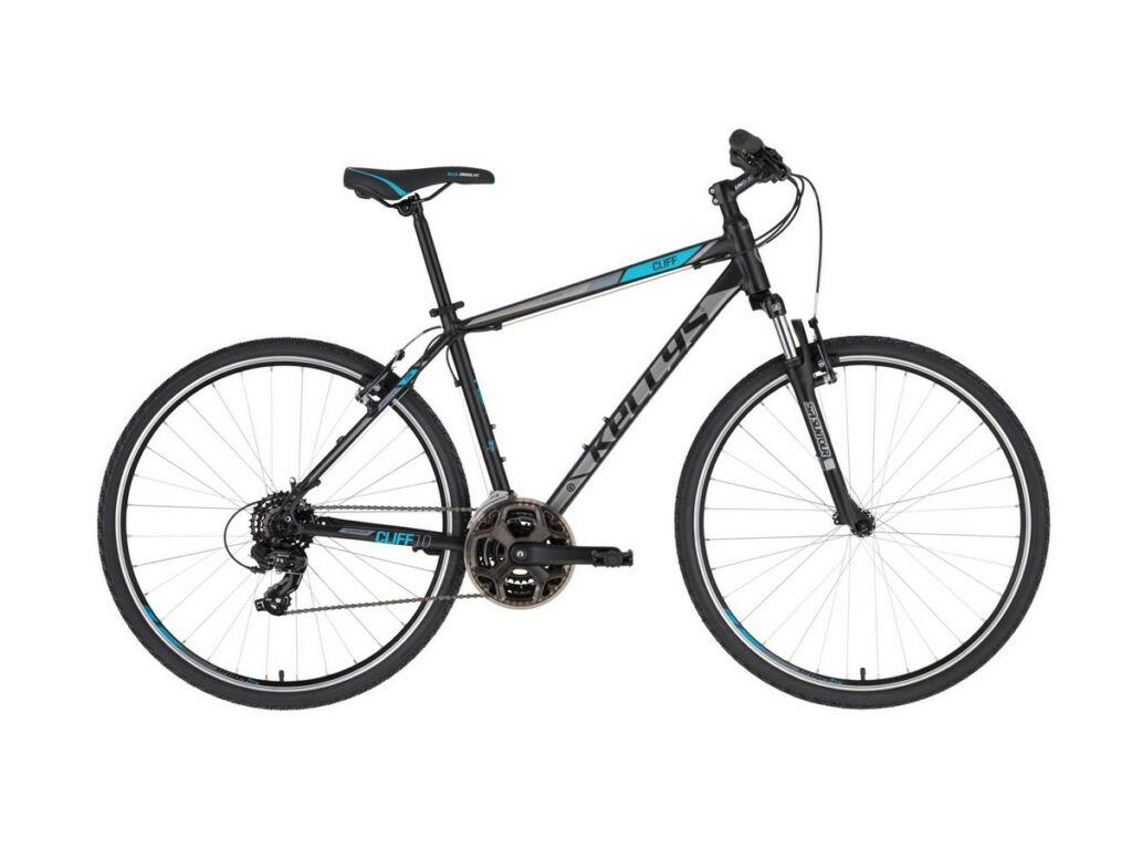 """KELLYS Cliff 10 28"""" férfi cross kerékpár, Black Blue"""