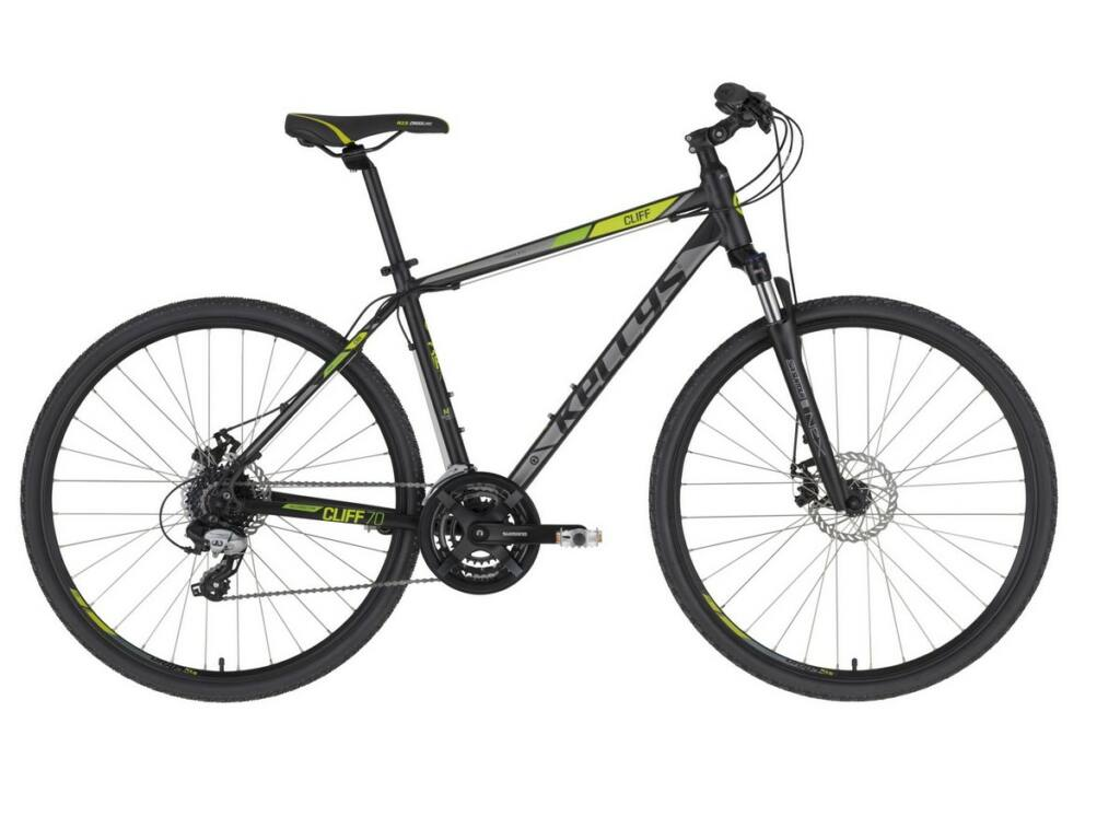 """KELLYS Cliff 70 28"""" férfi cross kerékpár, Black Green"""