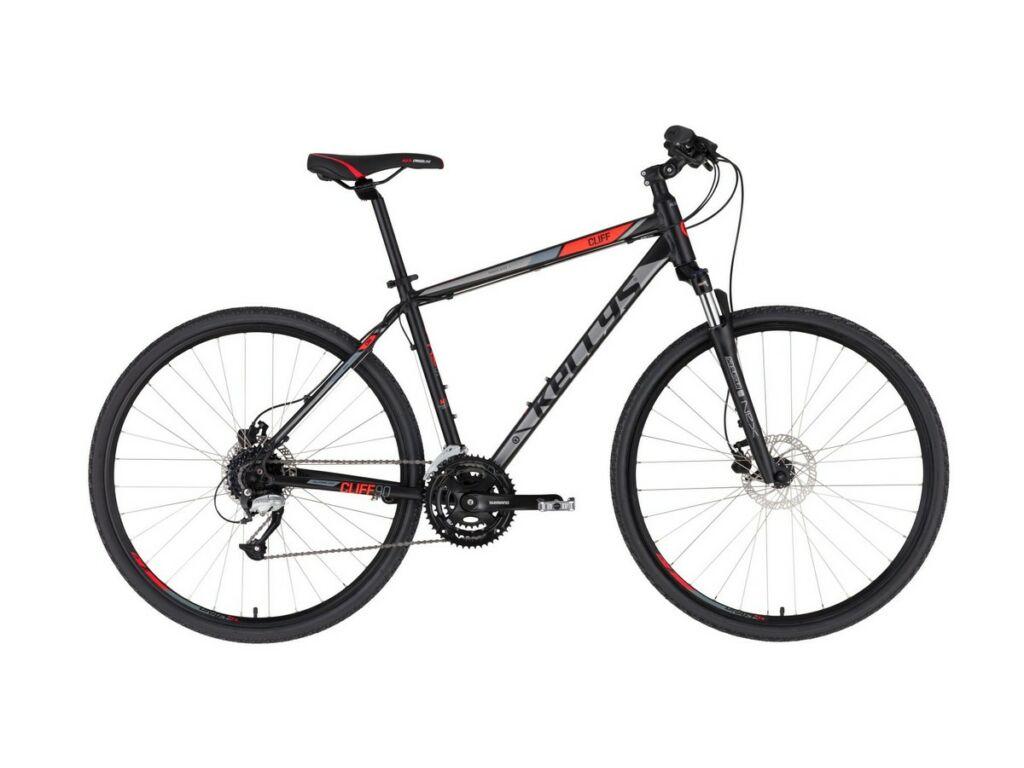 """KELLYS Cliff 90 28"""" férfi cross kerékpár, Black red"""