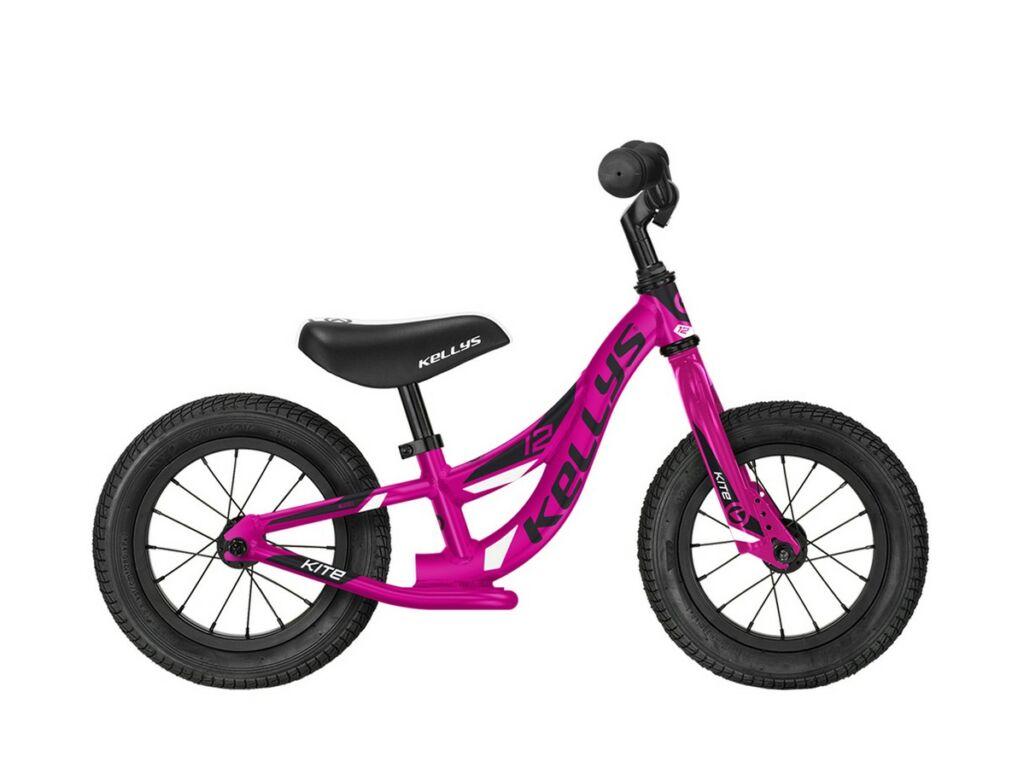 """KELLYS Kite 12"""" gyermek tanulókerékpár / futóbicikli, Pink"""