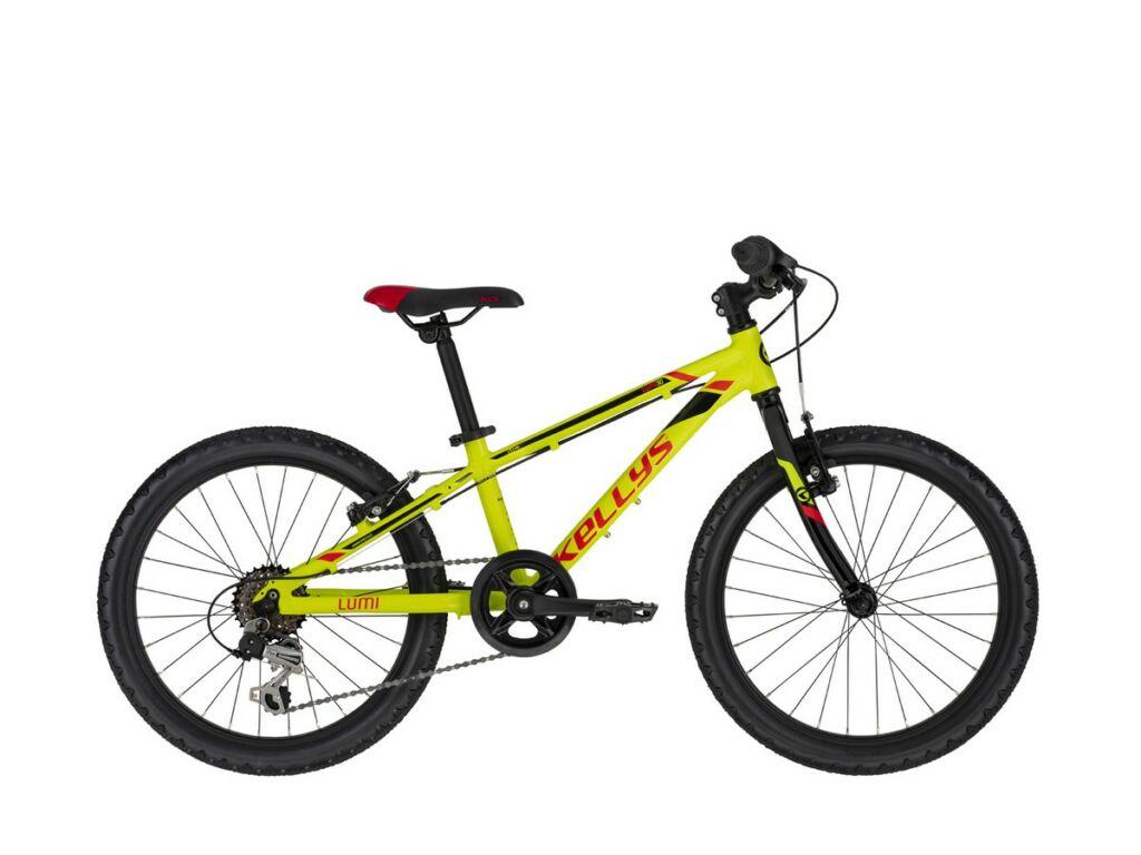 """KELLYS Lumi 30 20"""" gyermek MTB kerékpár, Neon Yellow"""
