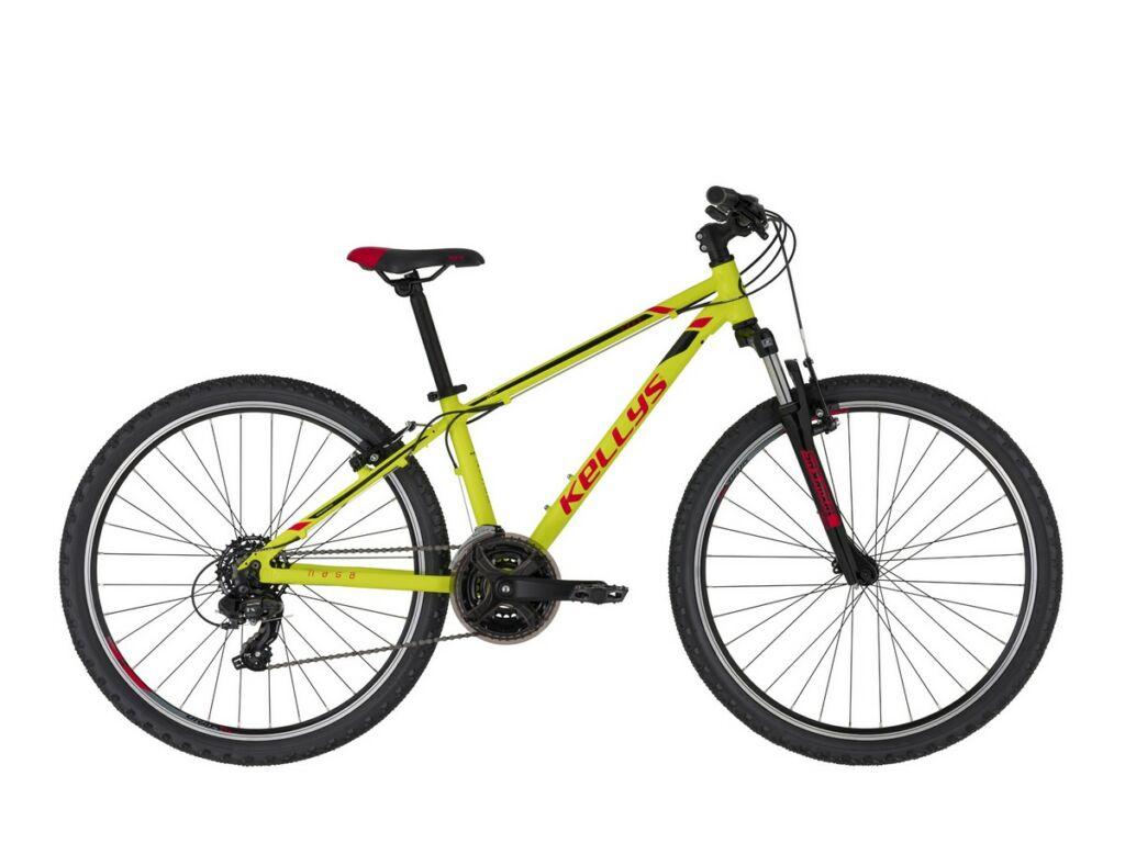"""KELLYS Naga 70 26"""" gyermek MTB kerékpár, Neon Lime"""