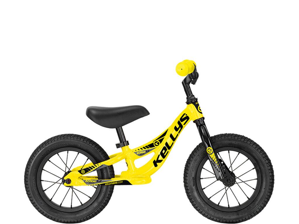 KELLYS KITE 12 gyermek futókerékpár, sárga