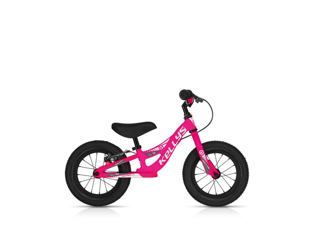KELLYS KITE 12 RACE gyermek futókerékpár fékkel, neon pink