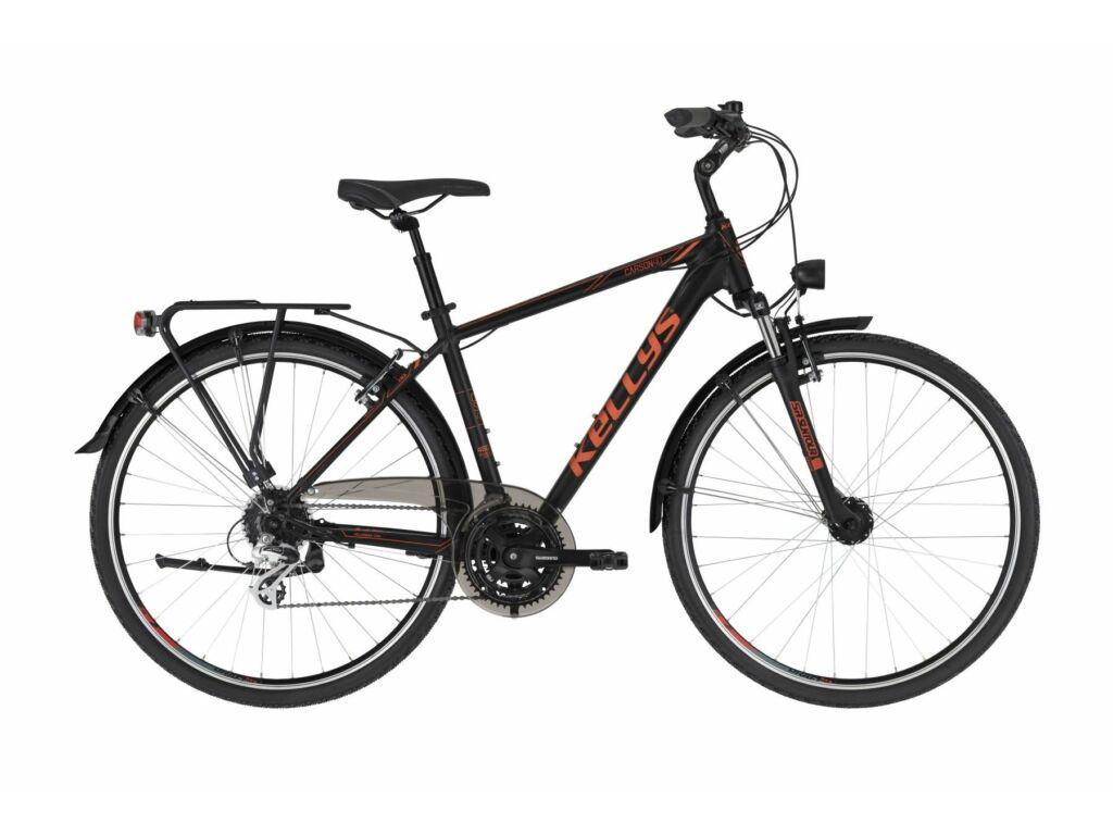 KELLYS Carson 40 trekking kerékpár, fekete / piros