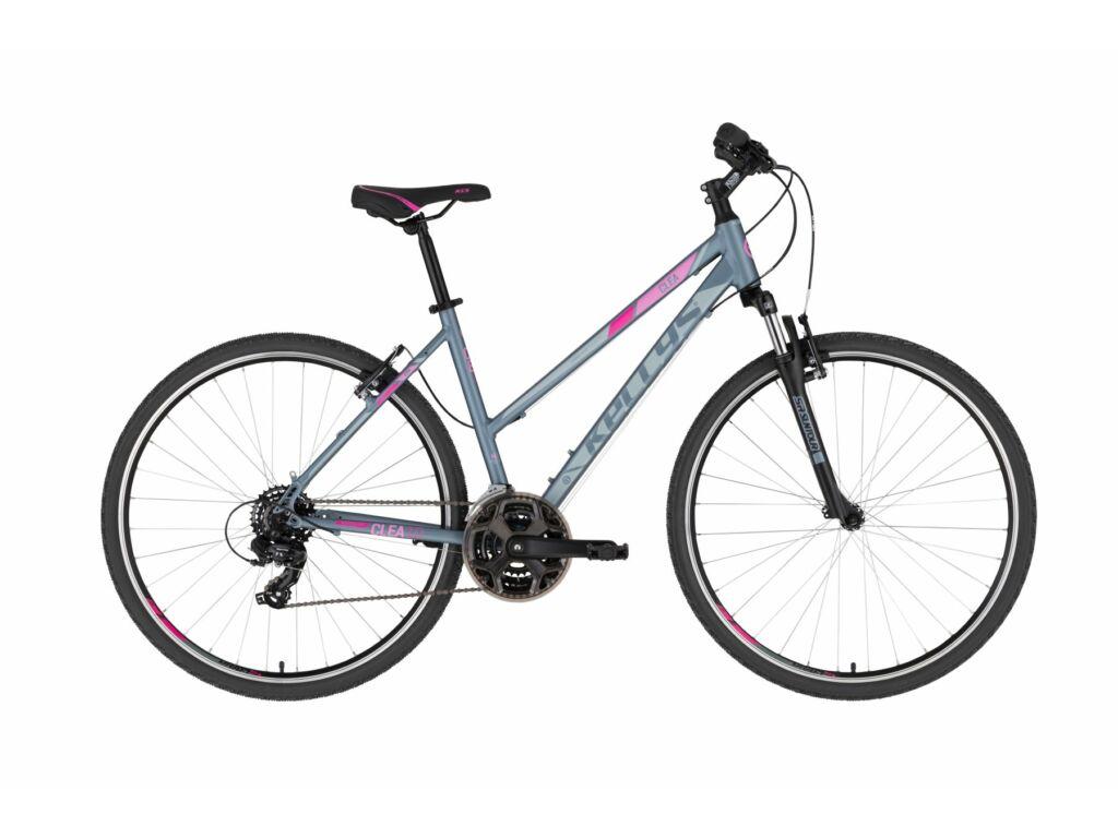 KELLYS Clea 10 cross kerékpár, szürke / pink