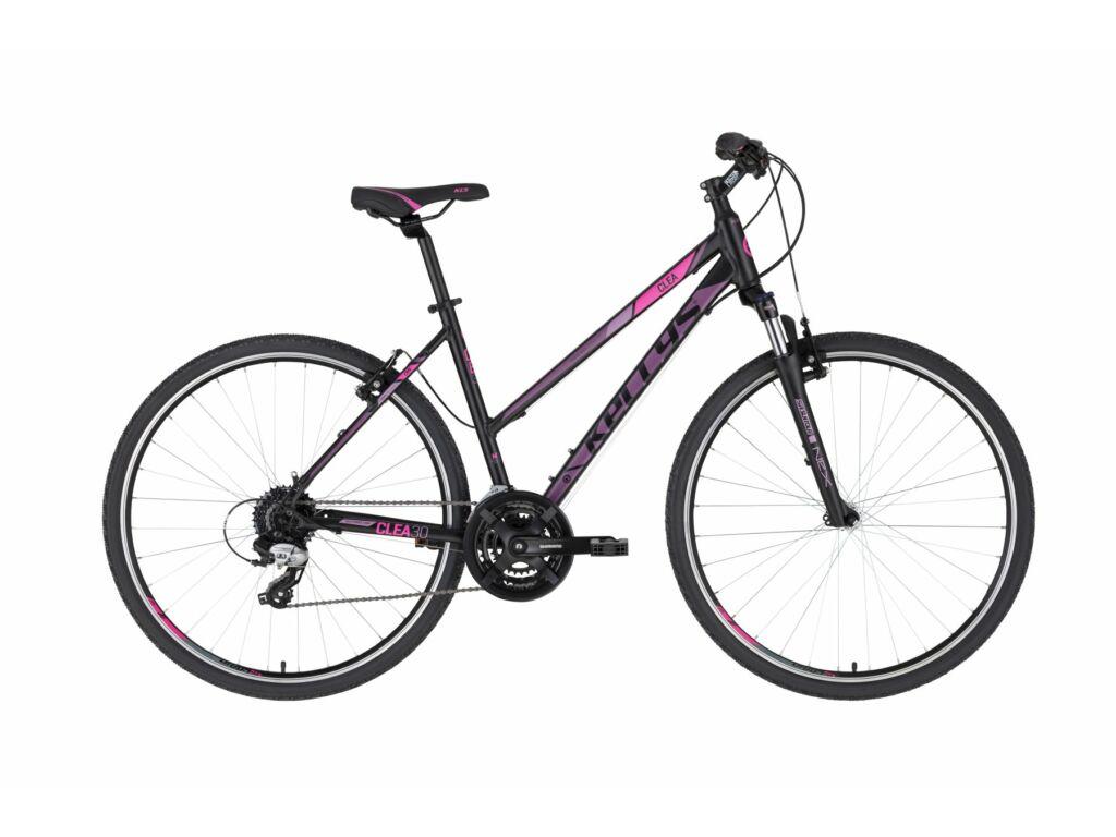 KELLYS Clea 30 cross kerékpár, fekete / lila