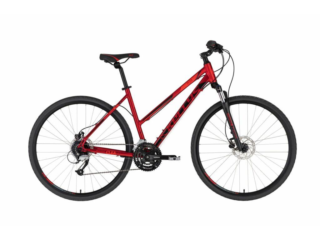 KELLYS Clea 90 cross kerékpár, sötétpiros