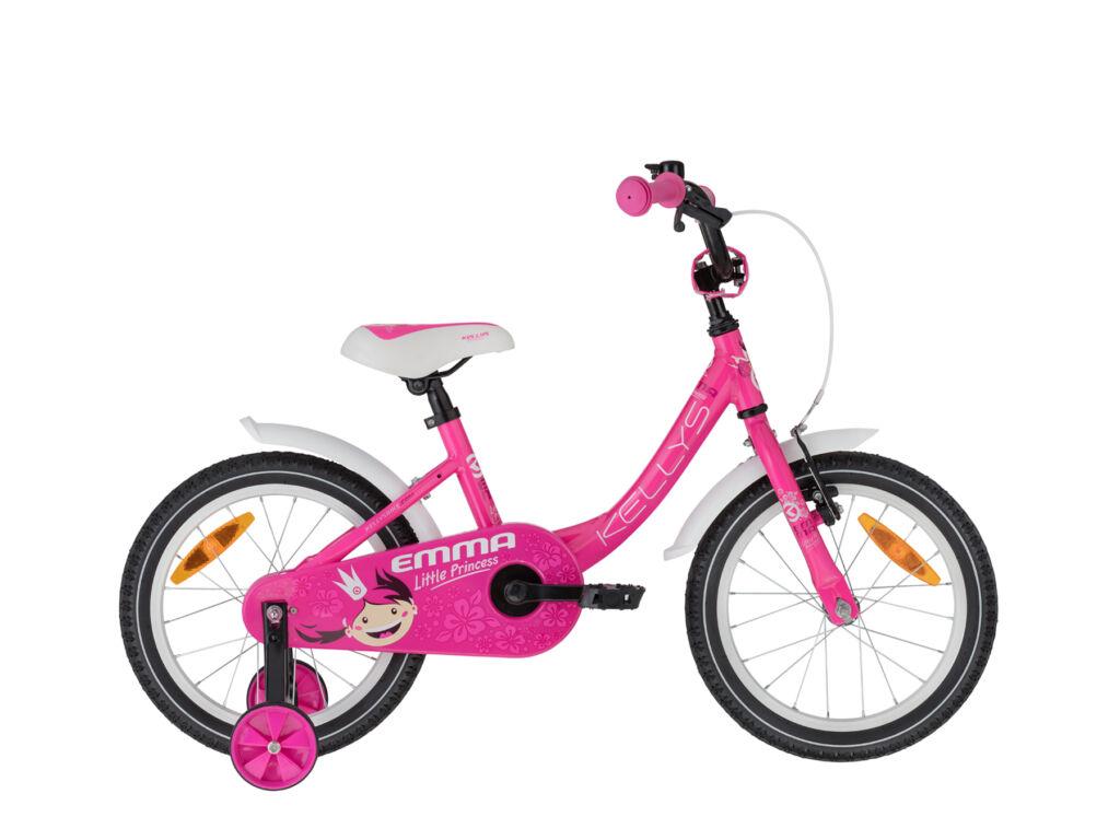 """KELLYS Emma 16"""" gyermek / tanuló lány kerékpár, Pink"""