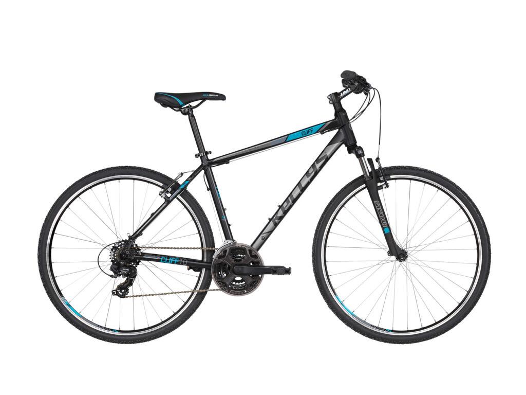 KELLYS Cliff 10 cross kerékpár, fekete / kék