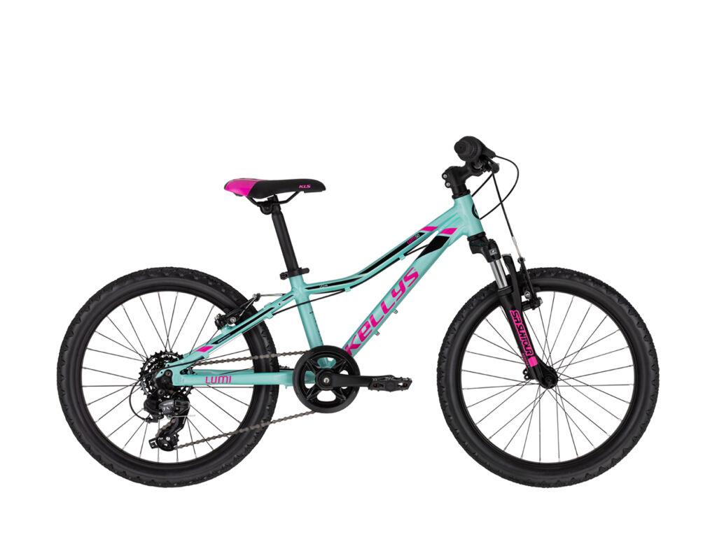 """KELLYS LUMI 50 (20"""") gyermekkerékpár, türkizkék / pink"""