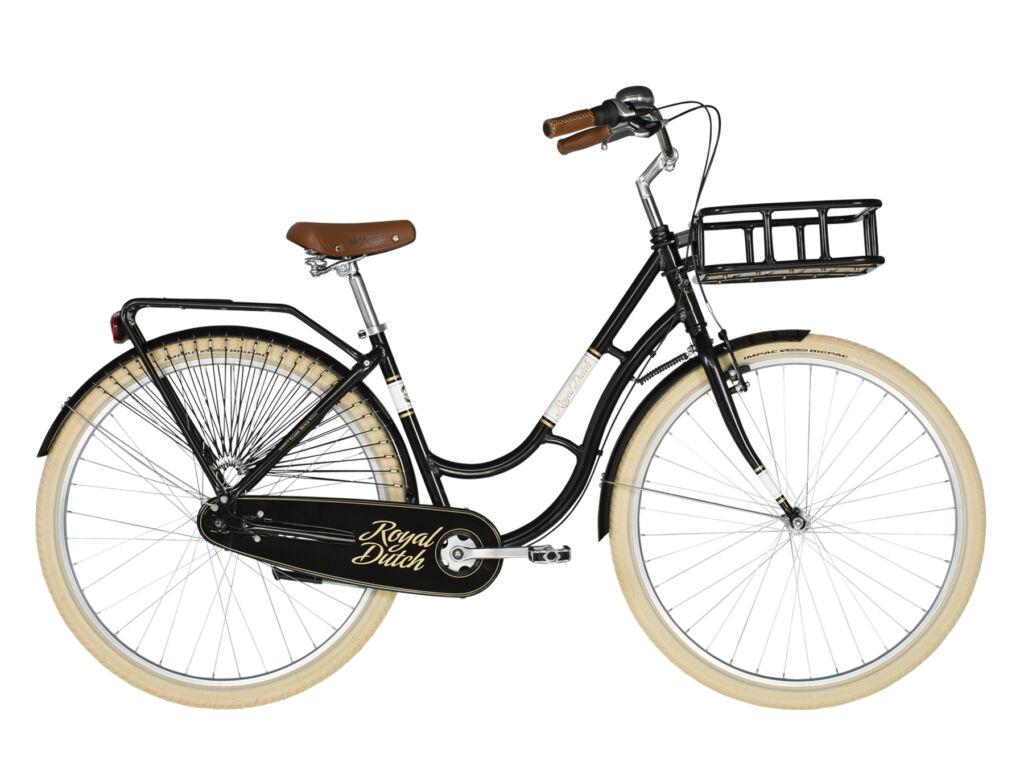 """KELLYS Royal Dutch 28"""" városi kerékpár, fekete / türkiz"""