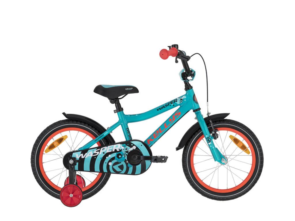"""KELLYS Wasper 16"""" gyermek / tanuló fiú kerékpár, Blue"""