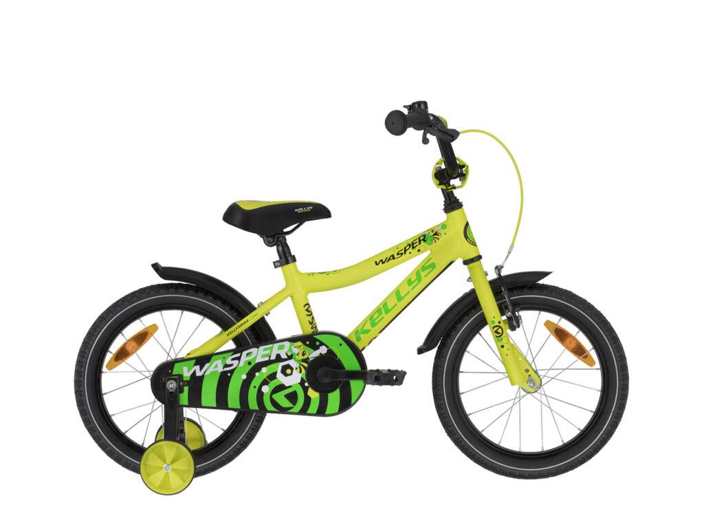 """KELLYS Wasper 16"""" gyermek / tanuló fiú kerékpár, Yellow"""